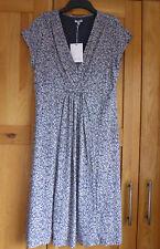 Ladies Jigsaw Jersey Dress Size Large Tea Dress Cap Sleeve New Unworn Grey Blue