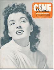 CINE ROMAN 214 (10/7/49) ANN BLYTH RONALD REAGAN SHIRLEY TEMPLE RELLYS TARZAN
