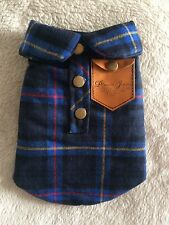 Mini Plaid Warm Dog Shirt Jumper Body Warmer Vest XS XXS Chihuahua Puppy 26cm