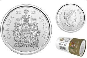 💲2021 Canada 50-Cent Coat of Arms Logo Half Dollar Coin BU UNC💲
