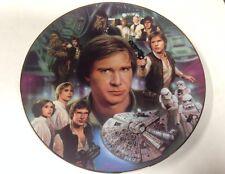 Star Wars Han Solo Commemorative Plate Coa 1546C