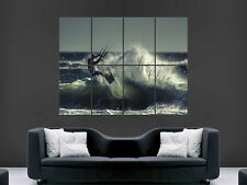 KITESURFING POSTER WAVES SEA SPORT WALL ART PICTURE PRINT LARGE