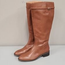 Franco Sarto Barbara Tall Leather Boots Brown 9.5 US/39.5 EUR Equestrian riding