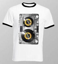 DJ tjesto Rétro ruban awsome Mix Trance Old School White Ringer T-shirt OZ9617