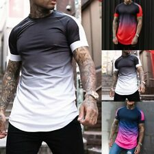 Slim Tops T-Shirt Beach Clothes Design Fitness Polyester Sport Stylish