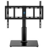 Universal Table Top TV Stand for 32 to 60 inch TVs with 40 Degree Swivel, Height