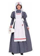 Guerra Civil Enfermera Niña Infantil Gris Colonial Halloween COSTUME-M