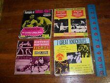 4 SUPER 8 vintage BOXING FILMS: (lotm1)