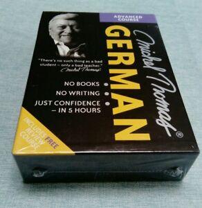 Michel Thomas German - Advanced Course No Books No Writing CD box set *NEW*