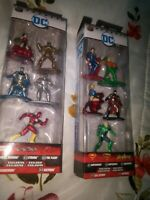 NEW Jada Nano Metalfigs DC Die Cast Collectibles Lot 2 - Packs Of 5 - A & B