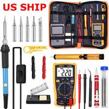 60W Electric Soldering Iron Gun Tool Kit Welding Desoldering Pump Tools Set 110V