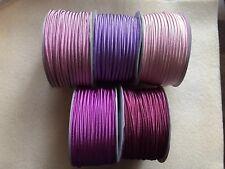 PROMO 15 metres (5x3m) Soutache Cord 3mm Purple Mix Wine Plum Purple Pink Lila