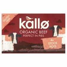Kallo Organic Beef Stock Pots - Gluten Free 4x96g