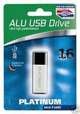 Platinum Alu 16 GB USB-Stick USB 3.0 silber 177494