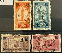 French Morocco #YT124-YT127 Used CV€6.00 1930-1931 Overprints [120-123]