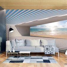 VLIES FOTOTAPETE Strand Meer 3D effekt Tunnel TAPETE Wandbilder xxl Wohnzimmer