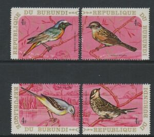 Burundi - 1970, 4f x 4 Bird stamps - MNH - SG 548/51