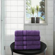 Luxury Hand Towels Egyptian Cotton Bath Bathroom Towel 4 Pack Cadbury Purple