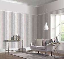 Arthouse Painted Wood Grey and Blush Wallpaper 902809