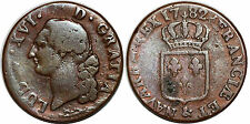 LOUIS XVI  SOL A L ECU 1782 & AIX