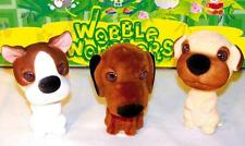 4 ASSORTED BOBBLE HEAD MUTTS bobbing car dash dog moving heads novelty toy new