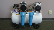 New 2 HP Noiseless & Oil Free Dental Air Compressor with In-line Air Dryer