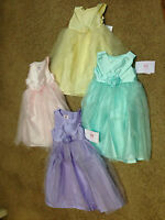 NWT Marmellata Pink Lilac Mint Yellow Tulle Wedding Easter Birthday Dress 2T