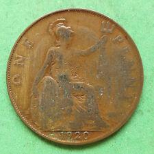 1920 George V Penny Filled in 2 in date SNo33476