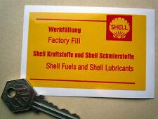 PORSCHE 911 FACTORY FILL original Shell oil fill style sticker 930 SC Carrera +