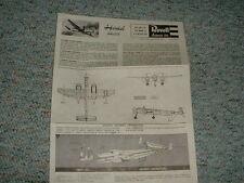 Revell 1/ 72 Heinkel He219  Instructions 1966  kit