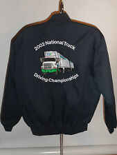 2002 NATIONAL TRUCK DRIVING CHAMPIONSHIPS EMBROIDERED JACKET! ZIP-OUT LINER! XL