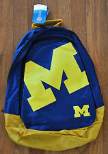 Michigan Wolverines BackPack / Back Pack Book Bag NEW NCAA  TEAM COLORS BIG LOGO