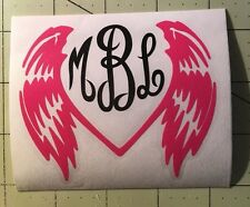 Monogram and Wings with 2 Colors For Your Yeti Rambler Tumbler