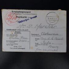 LETTRE PRISONNIER DE GUERRE STALAG XII C -> CHÂTEAUROUX KRIEGSGEFANGENENPOST POW