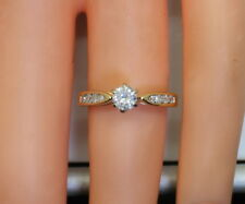 14K Yellow Gold 1/3 Ct RB Diamond Wedding/Engagement/Promise Ring Size 3.75