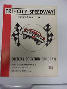 TRI CITY SPEEDWARY OFFICIAL RACING PROGRAM 1968