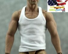 1/6 Man clothes vest Sport casual White Base Tank Top for Hot toys ❶US seller❶