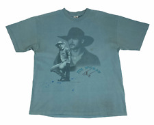 New ListingVintage 1997 Murina Mens Tim Mcgraw Crew Neck Teal Blue T Shirt Size X Large
