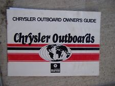 1979 1980 Chrysler Outboard Motor Owner Manual MORE BOAT ITEMS IN OUR STORE S