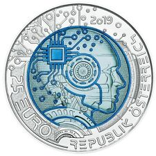 AUSTRIA 25 euro 2019 silver and niobium BU – Artificial intelligence