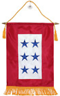 """12x18 Embroidered 6 Six Star Blue Military Service Nylon Flag 12""""x18"""" Banner"""