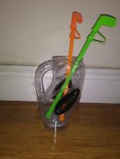 Golf Bag Shaped Plastic lights up Advertising Top Golf with 2 plastic straws