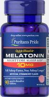 Puritan's Pride Quick Dissolve Melatonin 10mg total  90 tablets