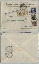 REGNO-VOLTA 1,25L(213)+Michetti 20c+30c(204/185) Raccomandata BRENO 14.1.1928