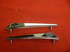 REPRODUCTION 63 FORD GALAXIE FENDER TOP ORNAMENTS EMBLEMS CHROME FE 390