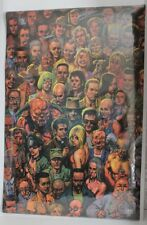 DC COMICS 2000 PREACHER POSTER 22 X 34 SIGNED GARTH ENNIS AND GLENN FABRY OOP