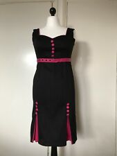 Living Dead Souls Women's Black & Pink Sexy Pencil Dress Size XL Good Condition