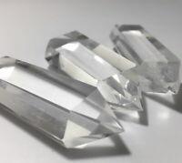 1pc 2.75'' Large Clear Natural Quartz Crystal Double Point Obelisk DT Wand