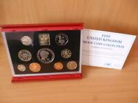 1999 ROYAL MINT PROOF SET HOUSED IN RED LEATHER CASE WITH C.O.A. 1999 COIN SET