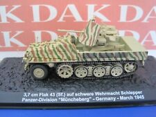 Diecast 1/72 Modellino Carro Armato Tank 37mm Flak 43 Panzer Division 1945